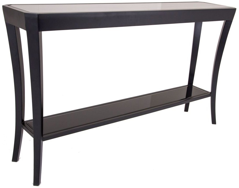 RV Astley Hyde Black Console Table