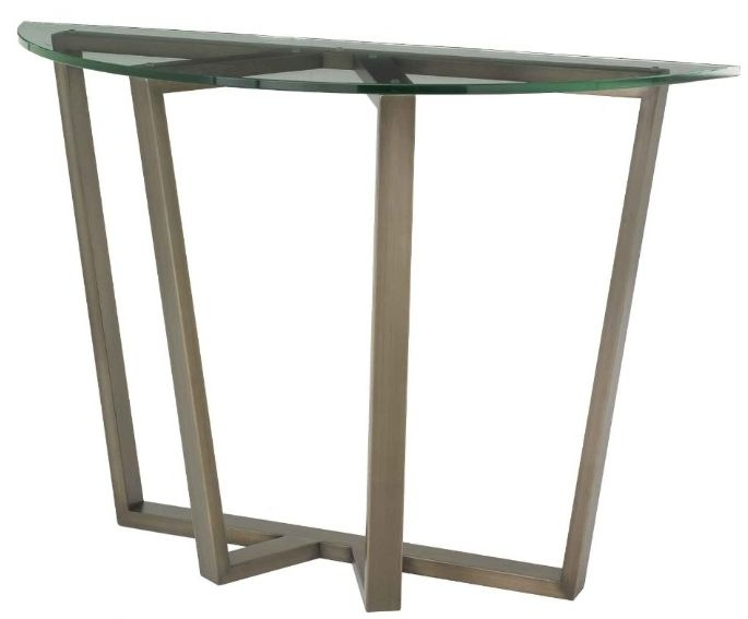 RV Astley Luisa Antique Brass Finish Console Table
