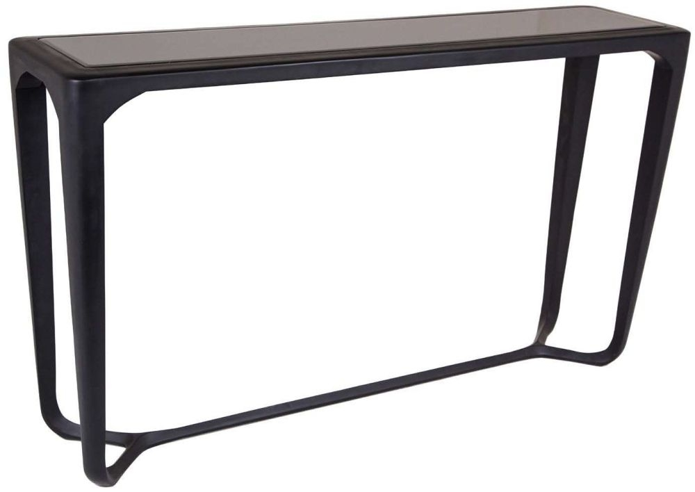 RV Astley Moneen Black Shagreen Console Table
