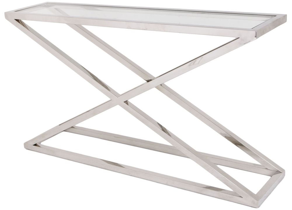 RV Astley Nico Stainless Steel Console Table