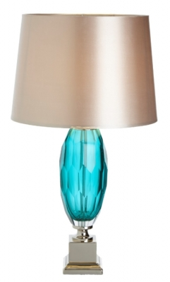 RV Astley Alma Aqua Glass Table Lamp