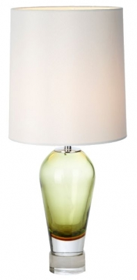 RV Astley Chaney Olive Green Glass Table Lamp