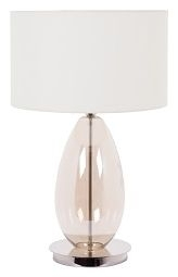 RV Astley Espen Cognac Glass Table Lamp