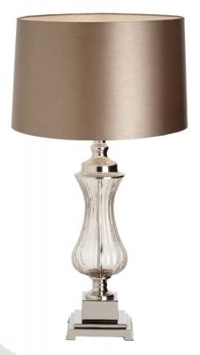 RV Astley Oliva Glass and Nickel Table Lamp (Base Only)