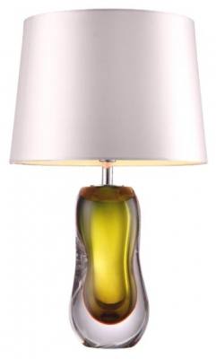 RV Astley Ottavia Olive Green Glass Table Lamp (Base only)
