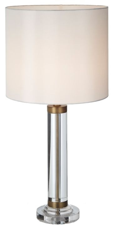 RV Astley Dale Crystal and Antique Brass Table Lamp