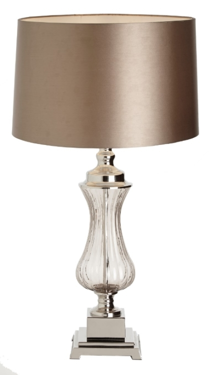 RV Astley Oliva Glass and Nickel Table Lamp Base Only