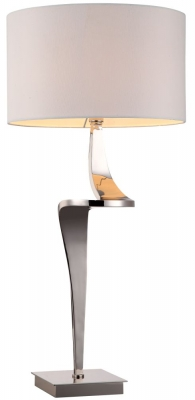 RV Astley Enzo Nickel Table Lamp