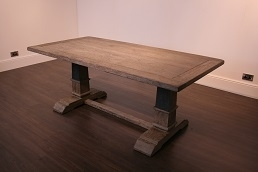 RV Astley Merek Antique Rustic Rectangular Dining Table - 200cm