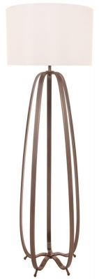 RV Astley Abbot Floor Lamp In Dark Antique Brass