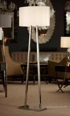RV Astley Brushed Nickel Baxter Floor Lamp
