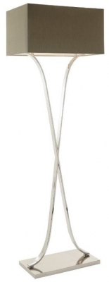 RV Astley Byton Nickel Floor Lamp with Shade