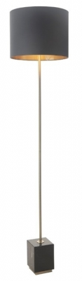 RV Astley Carmel Antique Brass Marble Floor Lamp