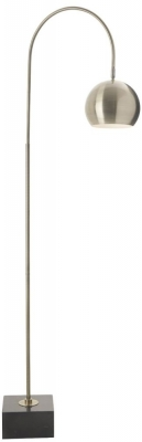 RV Astley Carno Antique Brass Marble Base Floor Lamp