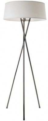 RV Astley Tabor Black Nickel Tripod Floor Lamp with Shade