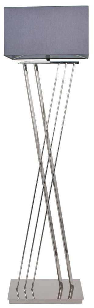 RV Astley Roma Nickel Floor Lamp