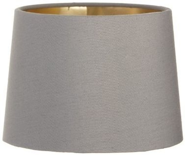 RV Astley Grey Lamp Shade with Gold Lining - 15cm