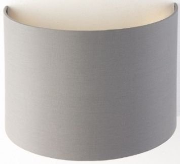 RV Astley Grey Wall Lamp Shade with Gold Lining