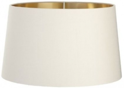 RV Astley Soft Latte Lamp Shade with Gold Lining - 34cm