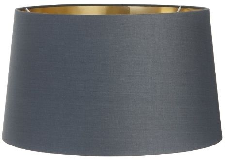 RV Astley Charcoal Shade with Gold Lining - 48cm