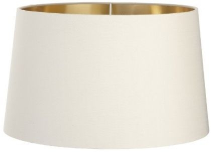 RV Astley Soft Latte Lamp Shade with Gold Lining Clip - 48cm