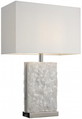 RV Astley Adelina Table Lamp - Unpolished Marble and Nickel