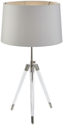 RV Astley Afton Crystal and Nickel Table Lamp Base Only