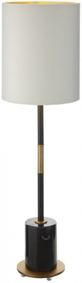 RV Astley Alix Table Lamp - Antique Brass and Black Marble