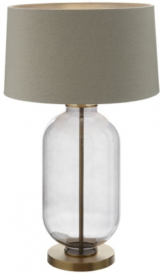 RV Astley Calabra Table Lamp - Smoked Glass and Antique Brass