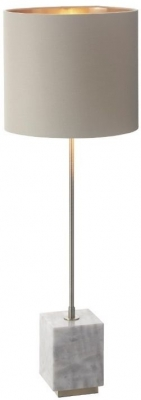 RV Astley Sintra Table Lamp - Antique Brass and White Marble