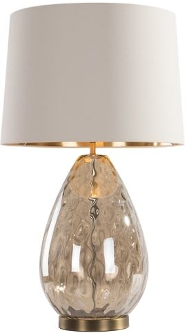 RV Astley Riom Antique Brass and Clear Crystal Table Lamp