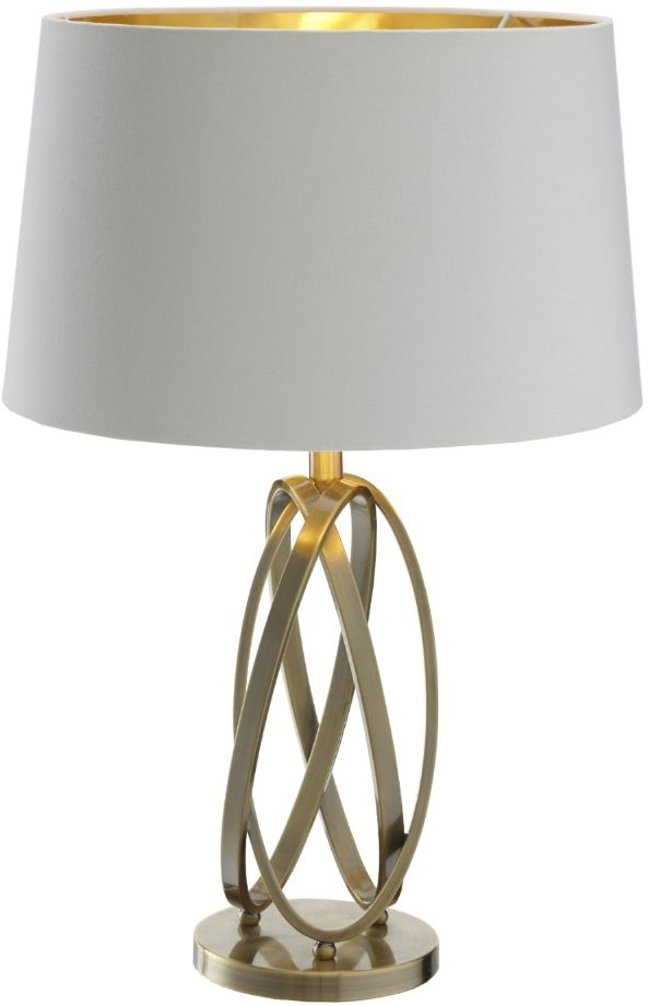 RV Astley Hurstly Antique Brass Table Lamp (Base Only)