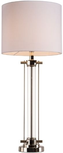 RV Astley Adara Nickel Glass Table Lamp