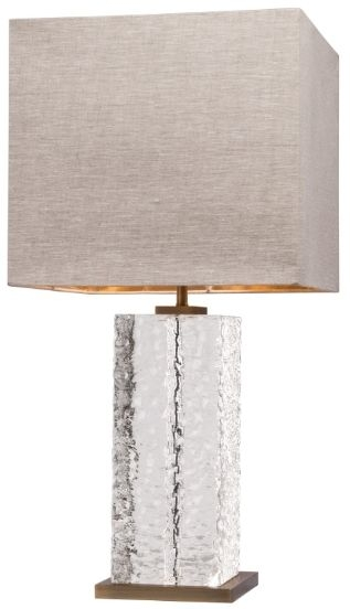 RV Astley Allana Table Lamp - Frosted and Antique Brass