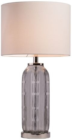 RV Astley Alvy Smoked Glass Table Lamp