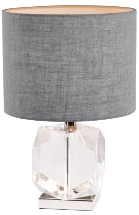 RV Astley Esme Table Lamp - Nickel and Crystal Glass