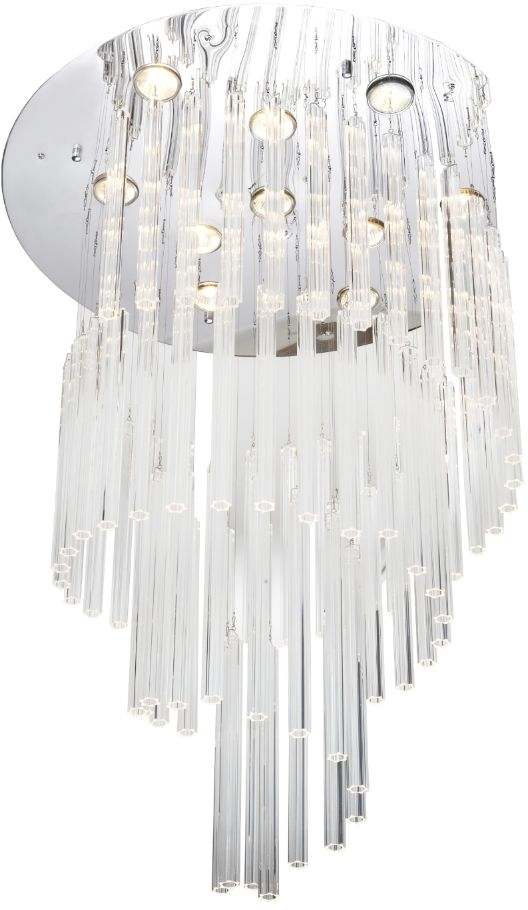 RV Astley Albizzate Crystal Nickel Ceiling Light