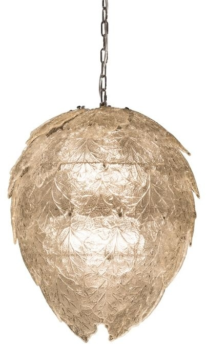 RV Astley Ametrine Large Pendant Light - Chrome and Clear Glass