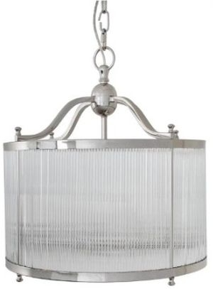 RV Astley Caglio Ceiling Light - Nickel and Glass