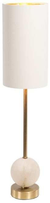 RV Astley Geralt White Marble Table Lamp