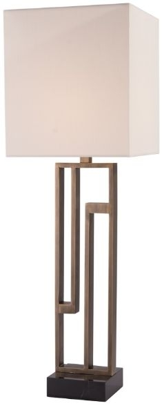 RV Astley Kianna Tall Table lamp - Black Marble and Antique Brass