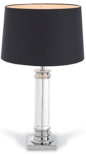 RV Astley Nickel and Crystal Table Lamp (Base Only)