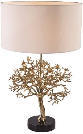 RV Astley Portia Table Lamp - Gold and Black Marble