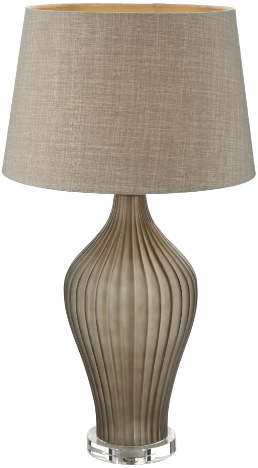 RV Astley Abbadia Frosted Grey and Clear Table Lamp