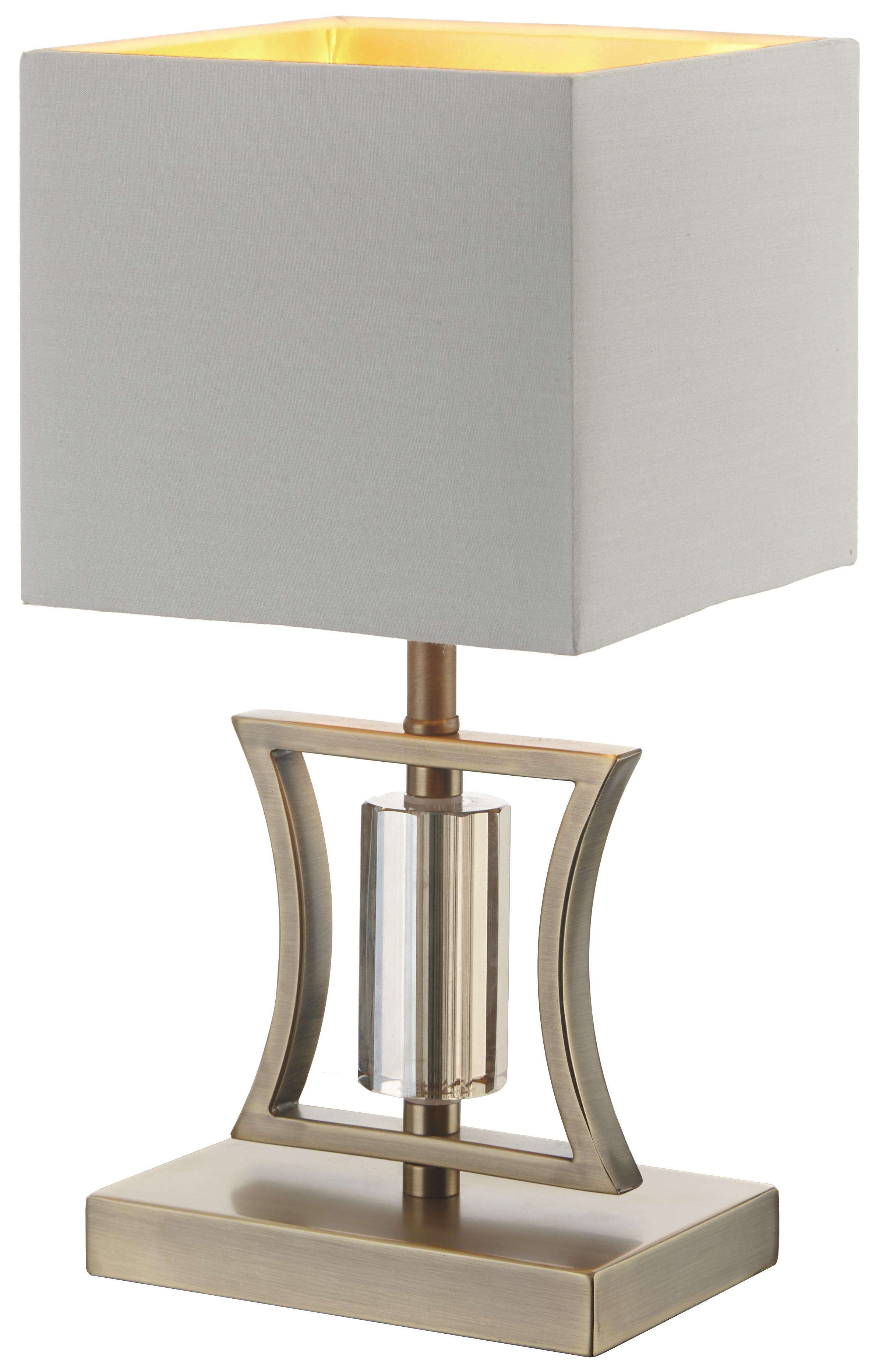 Rv Astley Aberto Antique Brass Table Lamp