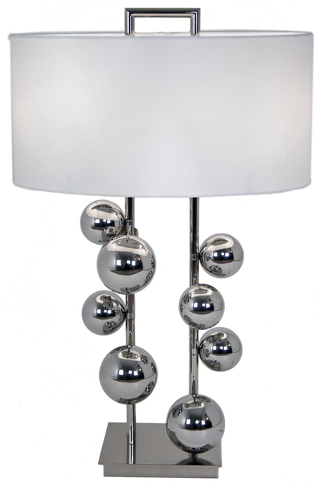 RV Astley Aero Table Lamp - Chrome and Nickel