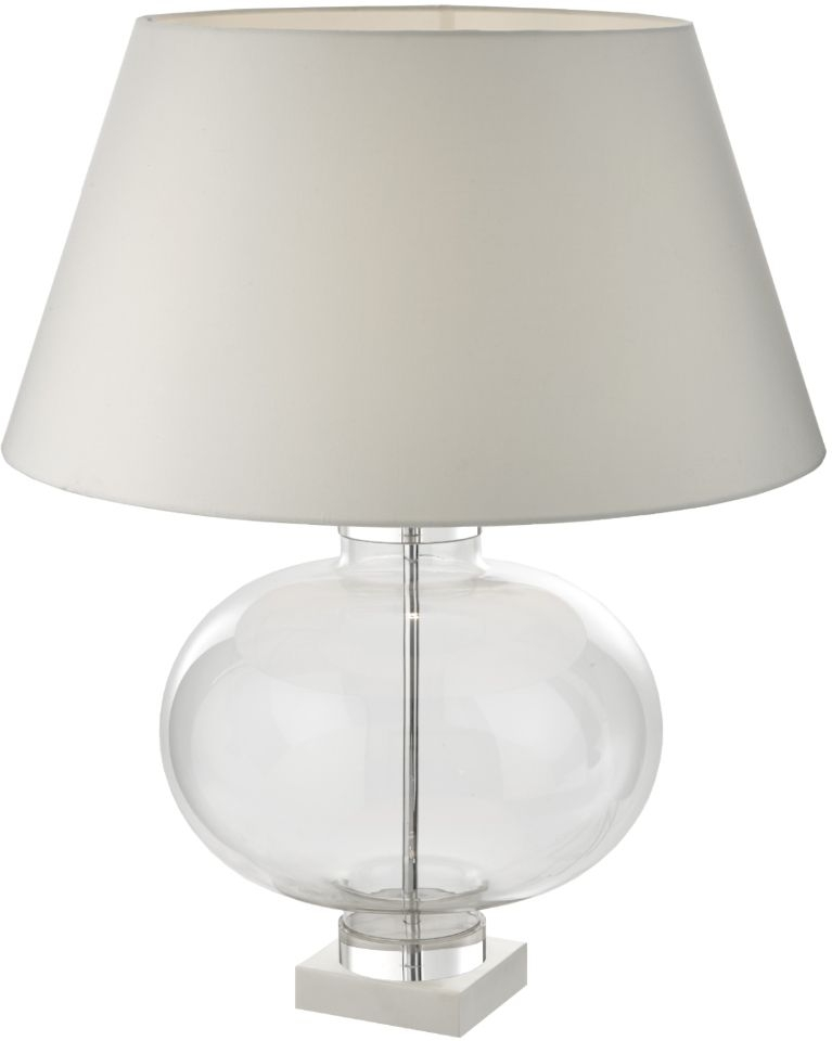 RV Astley Aidone White Marble and Glass Table Lamp Only