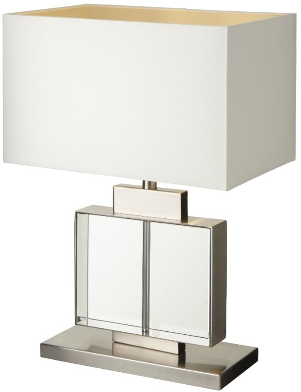 RV Astley Ailbe Crystal and Brushed Nickel Table Lamp
