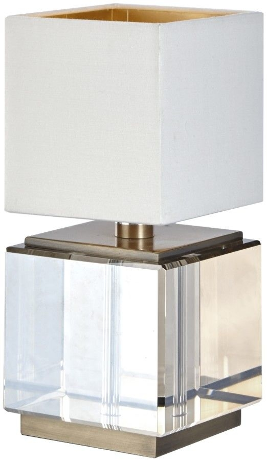 RV Astley Ailis Table Lamp - Cognac Crystal and Antique Brass