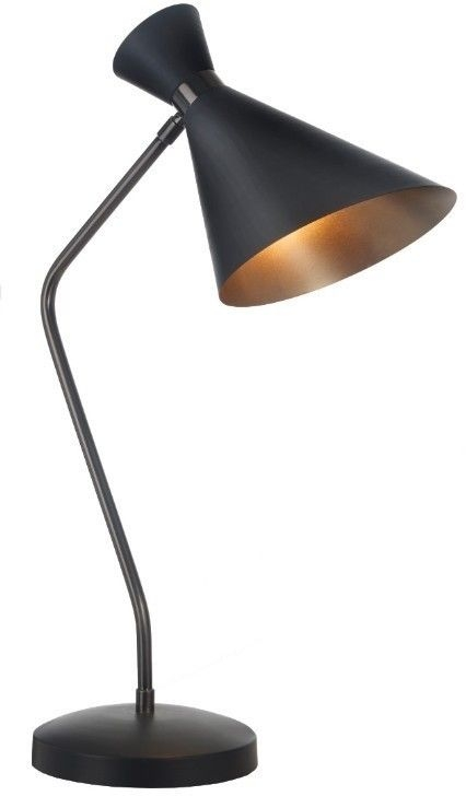 RV Astley Aklam Desk Lamp - Black and Antique Brass